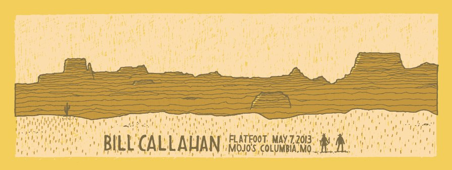 Bill Callahan poster by Never Sleeping
