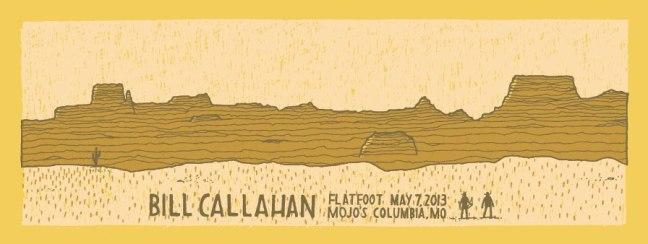 Bill Callahan poster by Never Sleeping