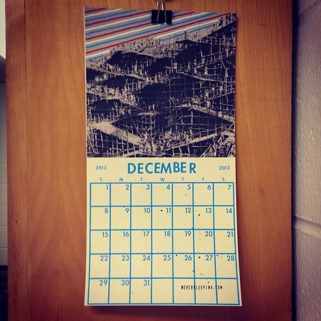 2013 Calendar from Never Sleeping